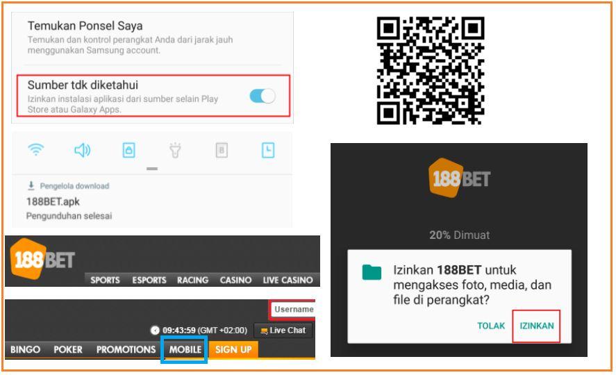 Lima Langkah Download Aplikasi 188Bet Melalui Scan Barcode