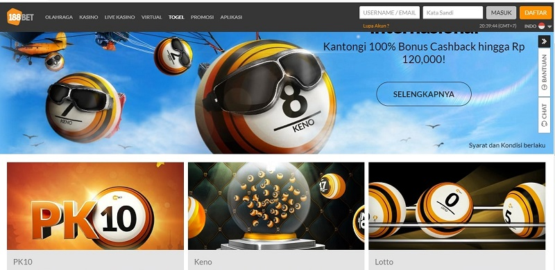 Lotere Online Indonesia 188Bet