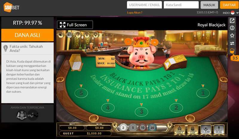 Nikmati Game 188Bet Online Casino Kelas Dunia yang Paling Badai - Non Live Kasino